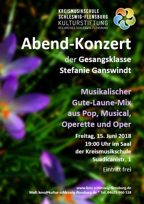Abend-Konzert Gesangsklasse Stefanie Ganswindt 15.6.2018