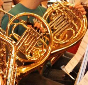 Waldhörner des Orchester Schleswig-Sønderjylland-Pops, das Leuchtturm-Projekt des Kreises Schleswig-Flensburg