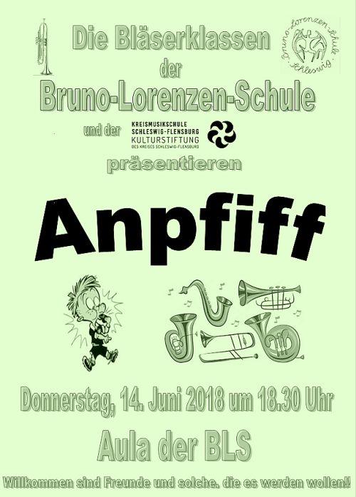 'Anpfiff' Konzert der Bläserklassen Bruno-Lorenzen-Schule 2018