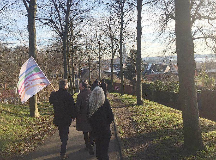 Begehung der Stadt Schleswig durch dänische und deutsche Musikschulleiter zum DDM am 13.6.2020