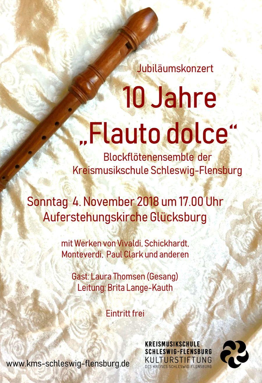 "Jubiläumskonzert ""flauto dolce"" 4.11.2018"