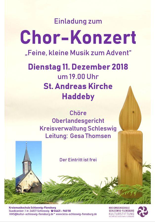 Weihnachtliches Chorkonzert 11.12.2018