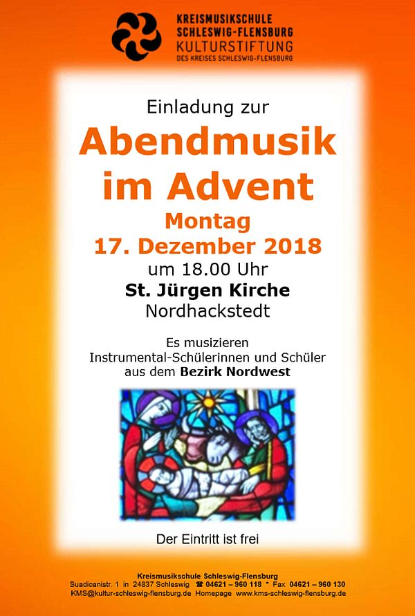 Abendmusik im Advent 17.12.2018
