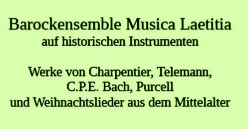 Konzert 'Musica Laetitia' - Bugenhagenschule 7.12.2018