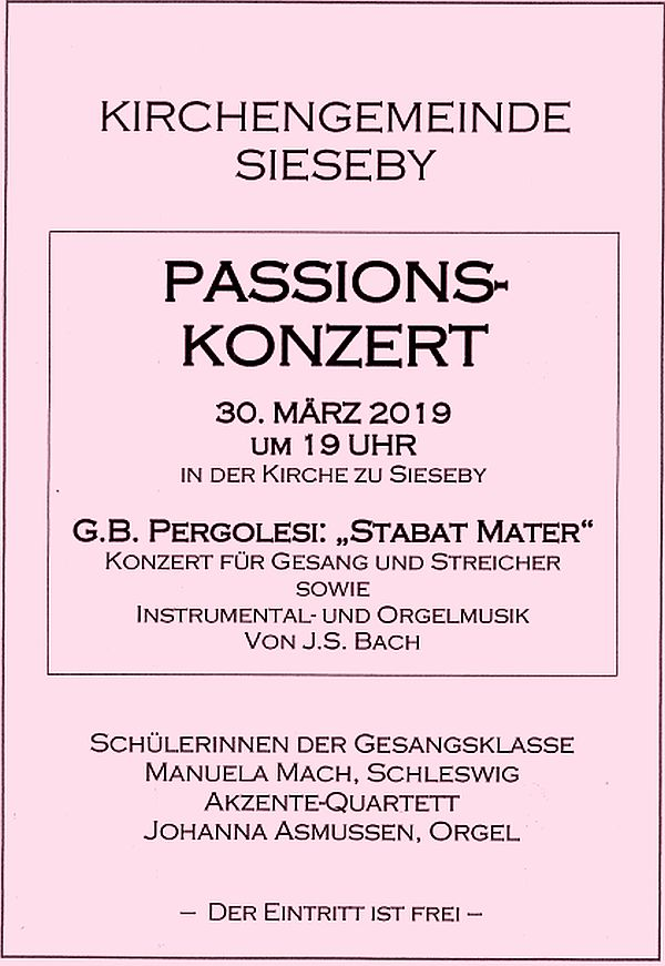 Passions-Konzert 30.3.2019