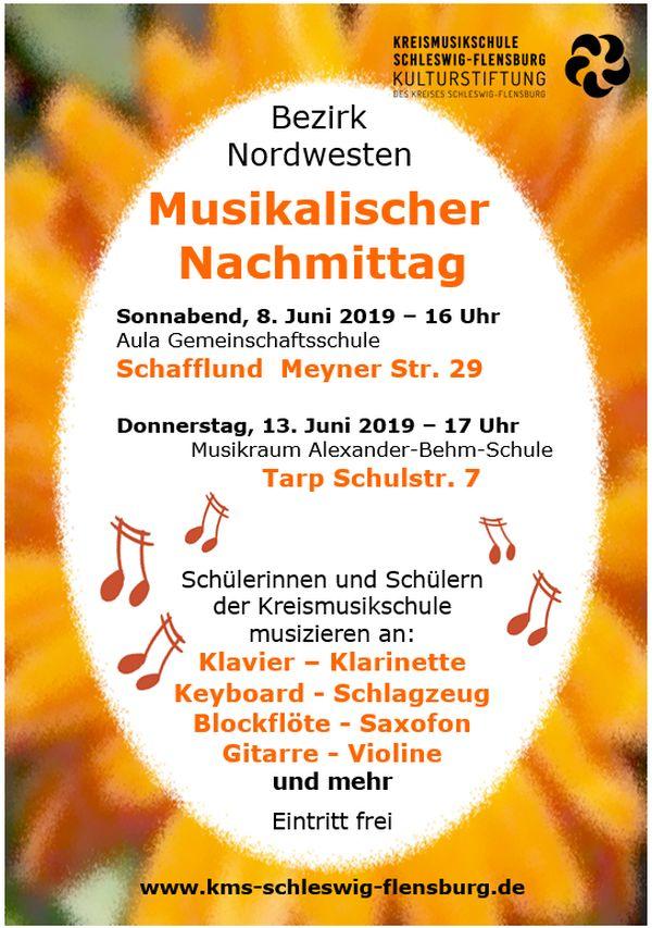 Musikalischer Nachmittag in Schafflund 8.6.2019