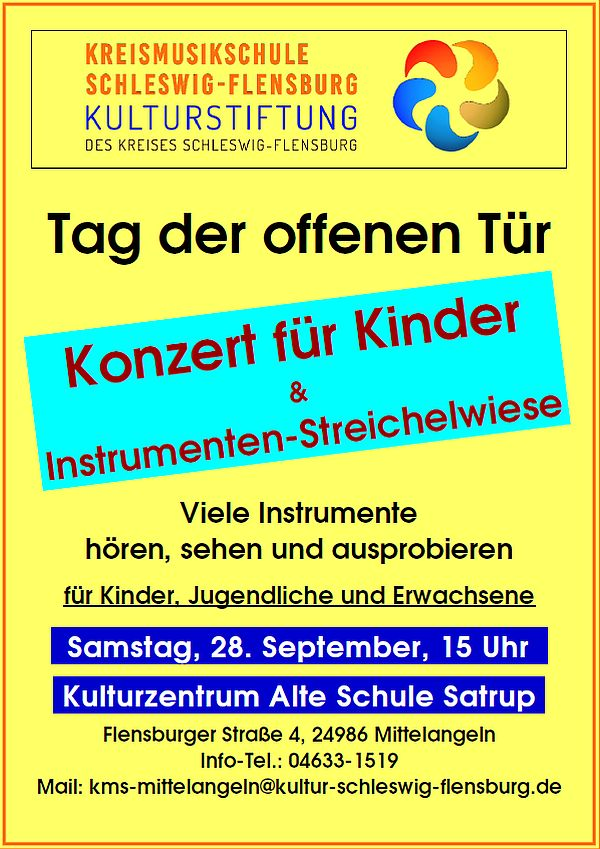 KONZERT für Kinder mit 'Instrumenten-Streichelwiese'