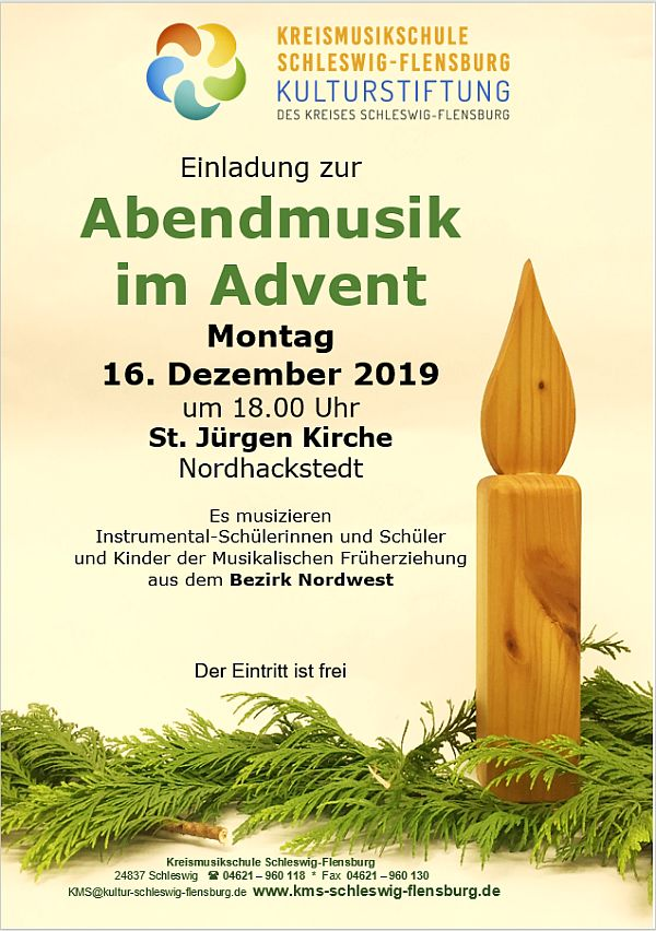Abendmusik im Advent 16.12.19