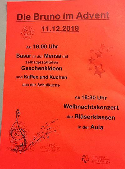 Weihnachtskonzert Bläserklassen 11.12.2019
