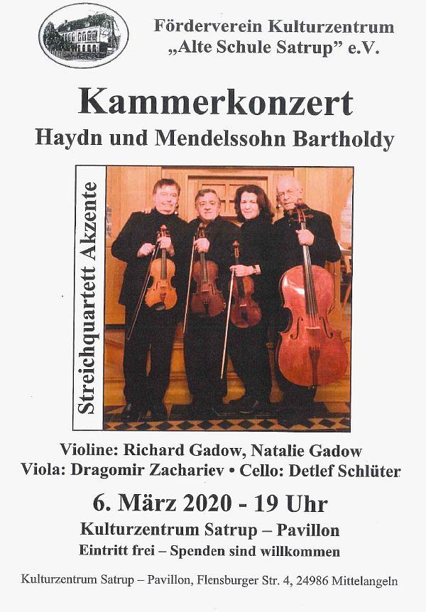 Kammerkonzert mit 'Akzente-Quartett'
